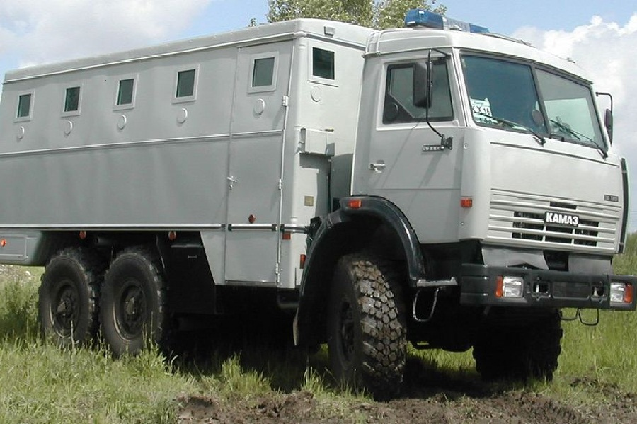 BULLET PROOF POLICE BUS, 6X6, PROTECTION LEVEL BR6