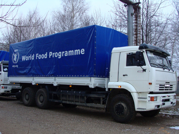 The World Food Program Fund has received a shipment of Russian trucks